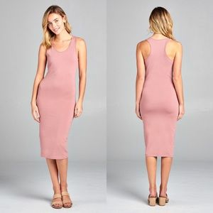 PRIM🌸 racerback midi dress blush pink